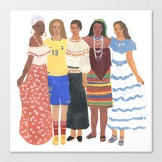 Ecuadorian Girls Canvas Print
