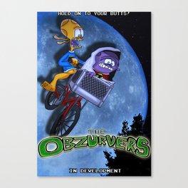 The Obzurvers Promo Poster #1 (E.T Parody) Canvas Print