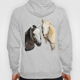 Friendly Chatter Between Horses Hoody