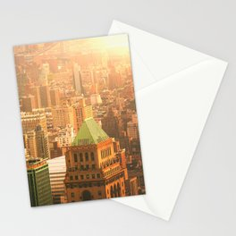 New York City Skyline Rooftops Stationery Cards