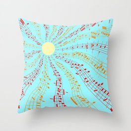 Music Brightens the World Throw Pillow