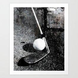 The golf club Art Print