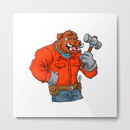 Boar cartoon mascot. Metal Print
