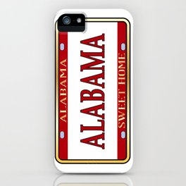 Alabama State Name License Plate iPhone Case