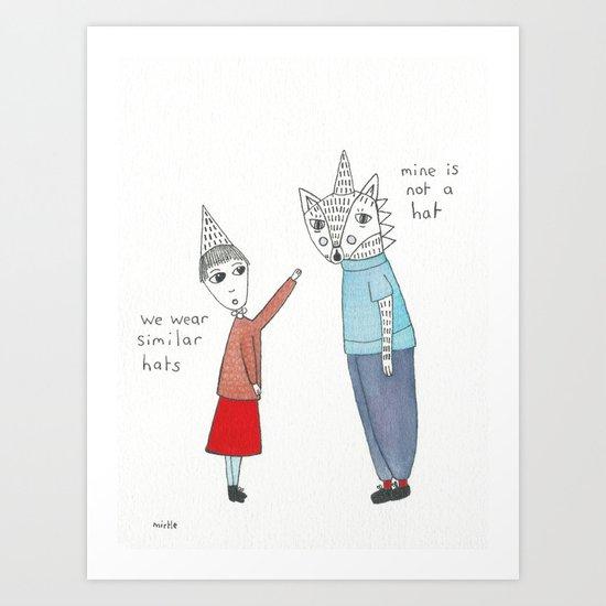 similar hats Art Print
