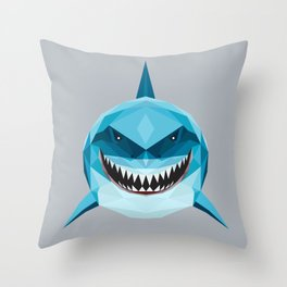 S is for Shark Throw Pillow