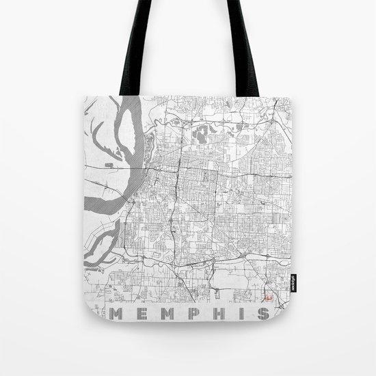 Memphis Map Line Tote Bag