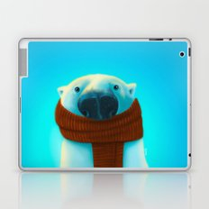 Polar bear with scarf Laptop & iPad Skin
