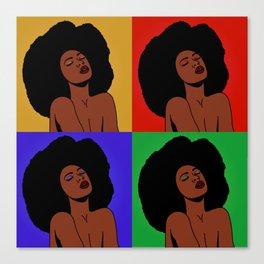 Natural Afro Pop Art Canvas Print