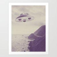 ufo Art Prints featuring UFO by Grafiskanstalt