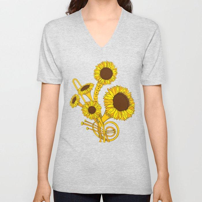 Sunflower Orchestra Unisex V-Neck