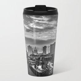 Black and White Boston - Massachusetts Travel Mug