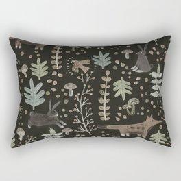 Woodland Nature at Night Rectangular Pillow
