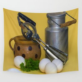 Milk Can Vignette Wall Tapestry