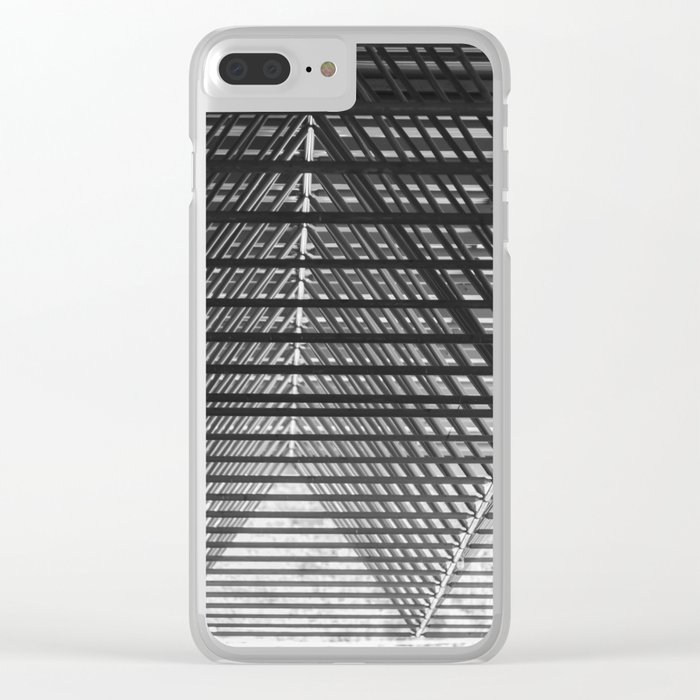 Steal triangular structure of the roof of a turkish bazaar Clear iPhone Case