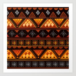 Modern Native American Pattern Art Print