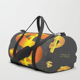 FLOATING ILLUSION OF MONEY GOLDEN DOLLARS Duffle Bag