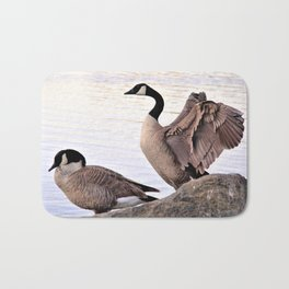 Mated Pair of Canadian Geese by Reay of Light Photography Bath Mat