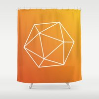 geometry Shower Curtains featuring Geometry by Geometry