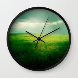 Green Fields Wall Clock