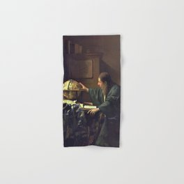 Johannes Vermeer - The Astronomer Hand & Bath Towel
