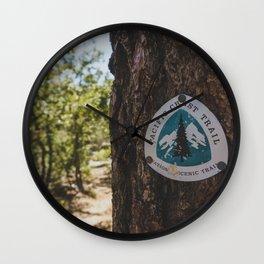 Marker - Pacific Crest Trail, California Wall Clock