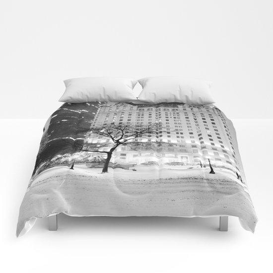 New York City Snow  Comforters
