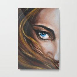 Blue Eye Oil Painting detail Metal Print