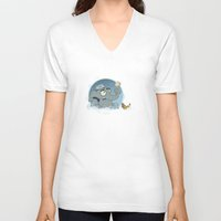 bath V-neck T-shirts featuring Bath by Glenn Melenhorst