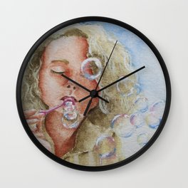 Jennifer Bubbles Wall Clock