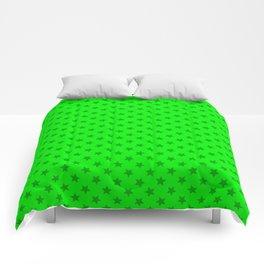 lime green stars, stars in yer eyez Comforters