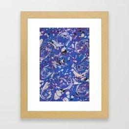 French Blue Curl Framed Art Print