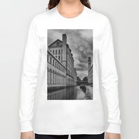 regina mills Long Sleeve T-shirts featuring Yorkshire Mills by Sandra Cockayne Photography