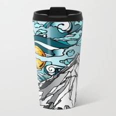 Turquoise Sky Metal Travel Mug