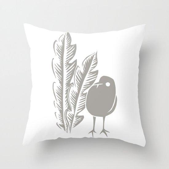 Graphic Bird Throw Pillow