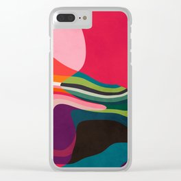 liquid shapes Clear iPhone Case