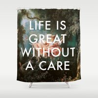 lorde Shower Curtains featuring Swing Without A Care by Lorde Art History