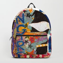 Angel mixed media inspirational wall art Backpack