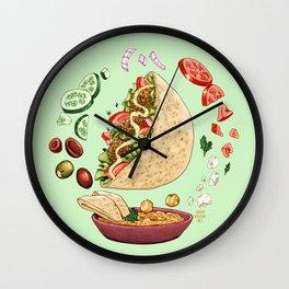 Falafel Mandala Wall Clock