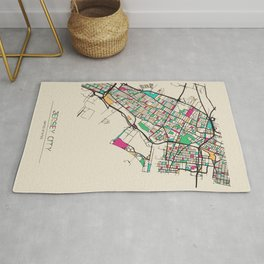 Colorful City Maps: Jersey City, New Jersey Rug