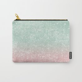 Pastel Summer Glitter #1 (Faux Glitter - Photography) #shiny #decor #art #society6 Carry-All Pouch