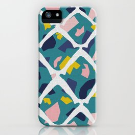 Pineapple Teal iPhone Case