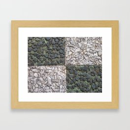 Abstracts in Nature Series -- Mosaic Paving Squares Framed Art Print