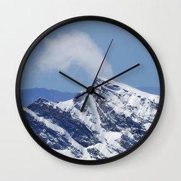 """Veleta mountain"". Aerial photography Wall Clock"