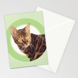 Boris the cat - Boris le chat Stationery Cards