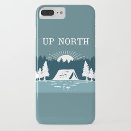 UP NORTH, camping iPhone Case