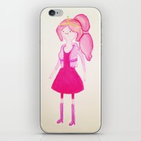 princess bubblegum iPhone & iPod Skins featuring Princess Bubblegum by Cassio