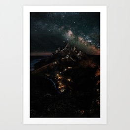 Velaris, City of Starlight, Night Court, A Court of Thorns and Roses Art Print