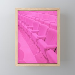 Pink Theater Seats in Palm Springs Framed Mini Art Print