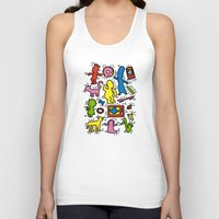 keith haring Tank Tops featuring Haring - Simpsons by Krikoui